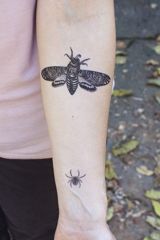 Get the instructions and templates for these temporary creepy Halloween tattoos