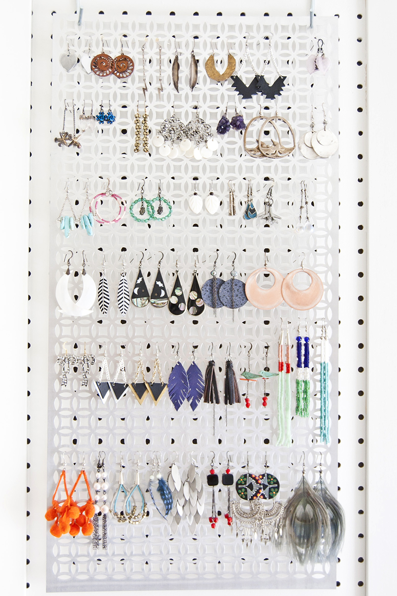 Diy Pegboard Jewelry Storage Diy In Pdx