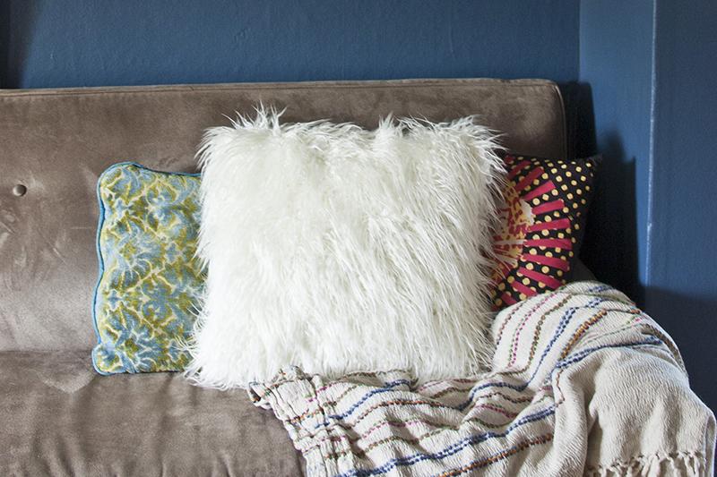 Make a Faux Fur Throw Pillow - DIY in PDX