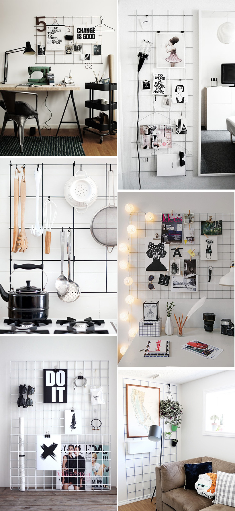 Diy inspiration metal grid diy in pdx for Lounge decor inspiration