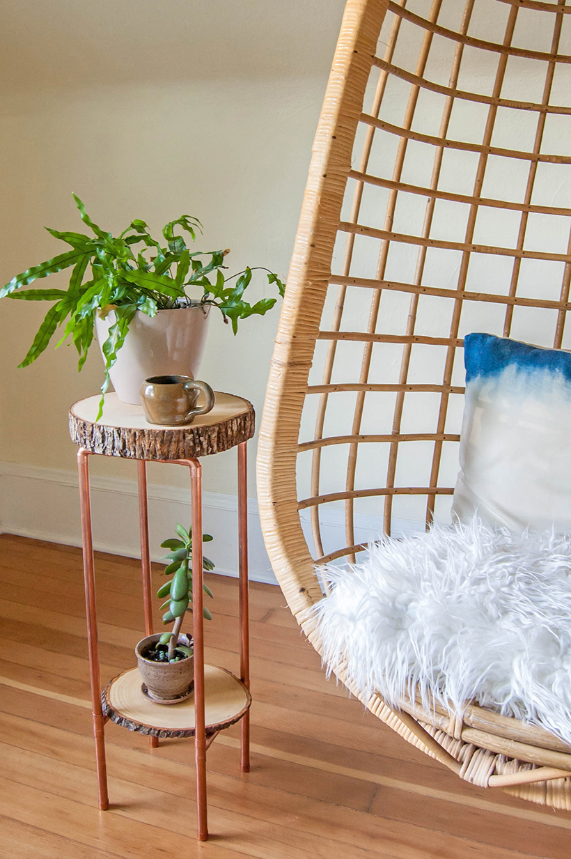 Diy Copper Pipe And Wood Slice Table