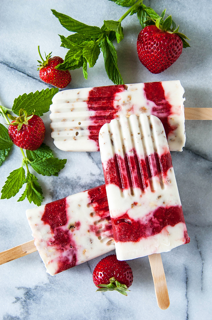 Yogurt, fruit, and granola make these popsicles an excellent excuse to have a frozen treat for breakfast.