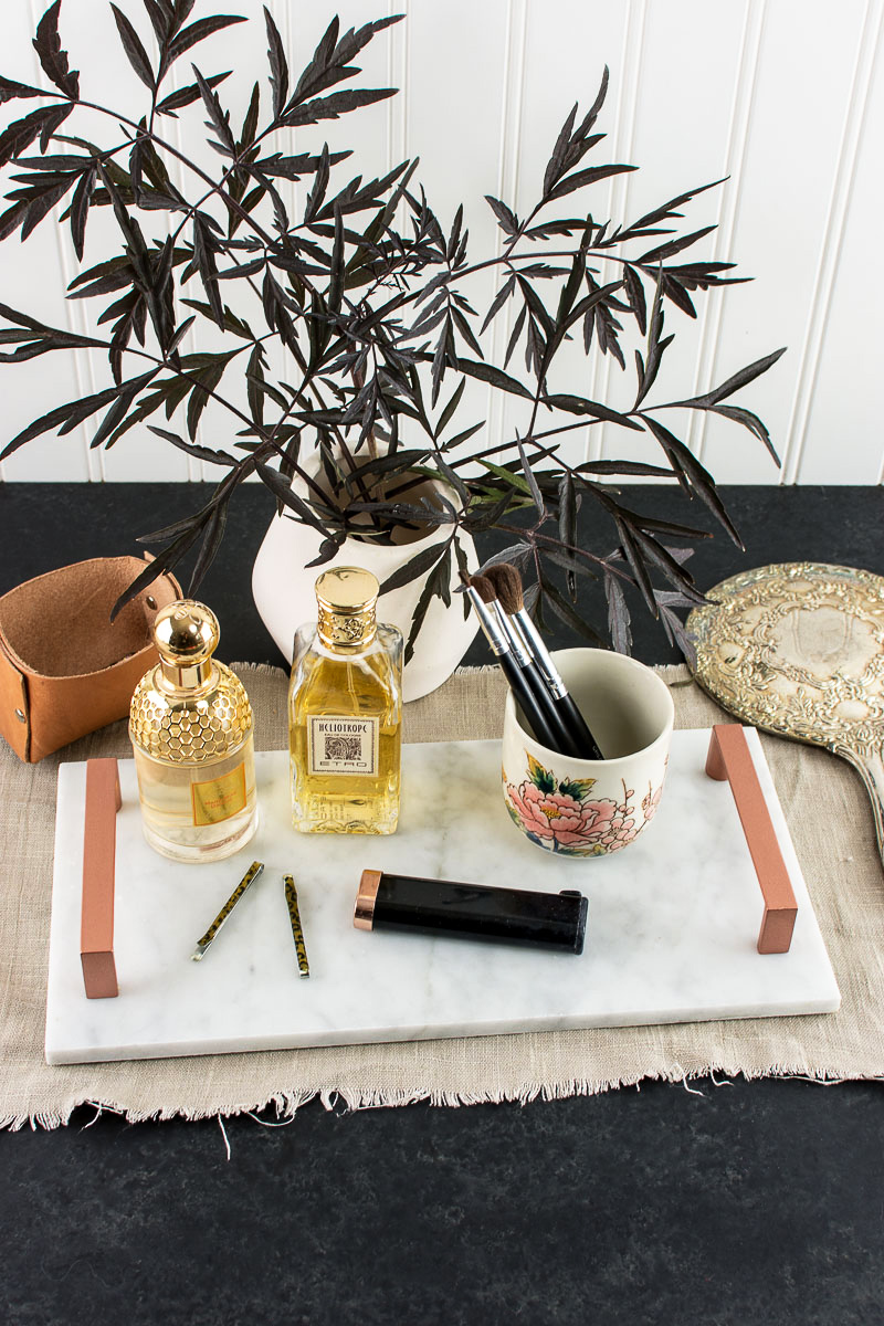 make a copper and marble serving tray. Black Bedroom Furniture Sets. Home Design Ideas