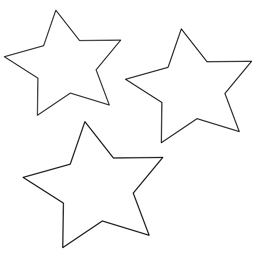 2 ways to make a holiday clay star wall hanging for Small star template printable free
