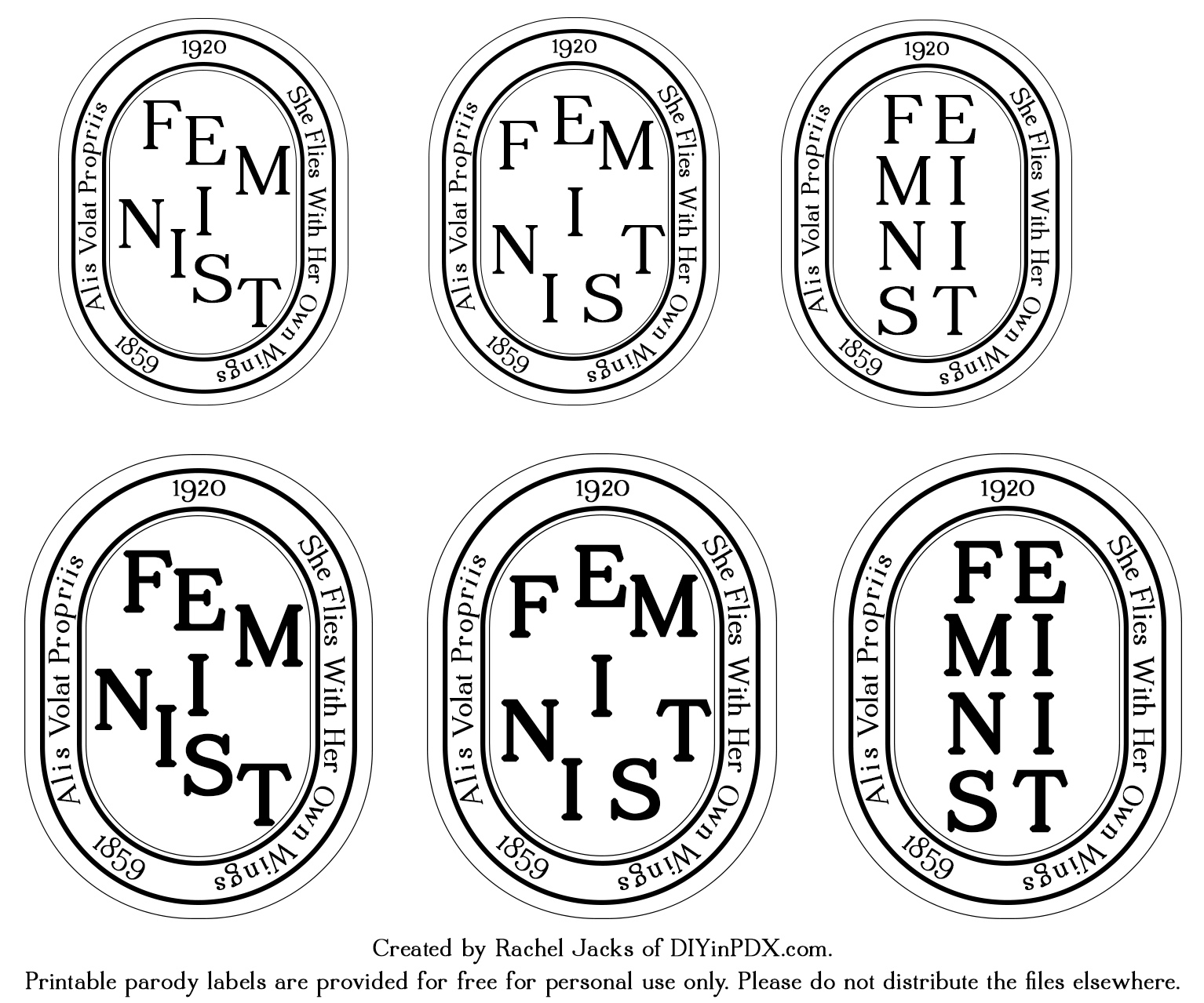 photograph about Printable Candles referred to as Do it yourself Feminist Candles